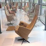 Elektrisch verstelbaar design relaxfauteuil leer van  Gealux  Arc 2011  2motoren met accu