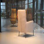 Design fauteuil Duuk in Touch leer Stone van Ojee Design