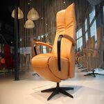 Gealux Twinz 226 leer Cognac elektrisch verstelbaar relaxfauteuil met 3 motoren en accu.