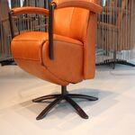 Gealux Twinz 223 leer Cognac elektrisch verstelbaar relaxfauteuil met 3 motoren en accu.