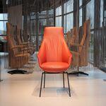 Design fauteuil leer/bijzetstoel model Marina van Gealux